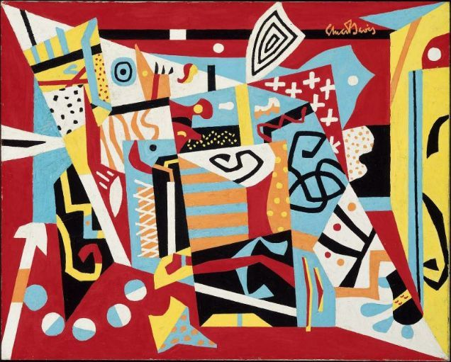 Hot Still Scape For Six Colors 7th Avenue Style Mfa For Educators Stuart Davis Abstract Abstract Painters