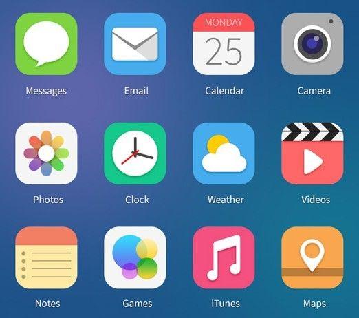 Free 12 Flat iOS 7 Style App Icons Пользовательский