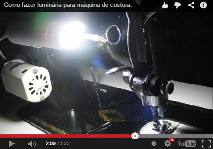 PVC PASSO A PASSO: Como fazer luminária para máquina de costura.