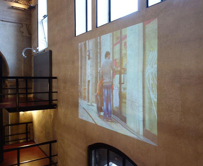 La mostra Verona on wheels di dismappa proiettata alla biblioteca frinzi dell'università di verona: 1989 ritratti di persone in sedia a rotelle