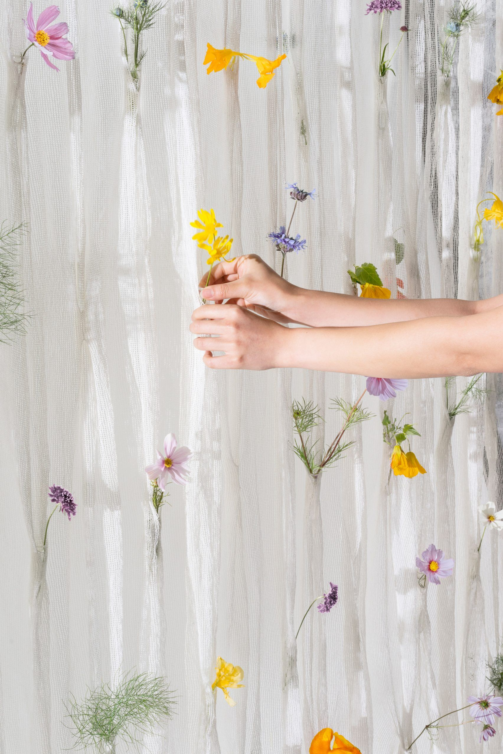 Draped Flowers Curtain by Umé Studio (With images