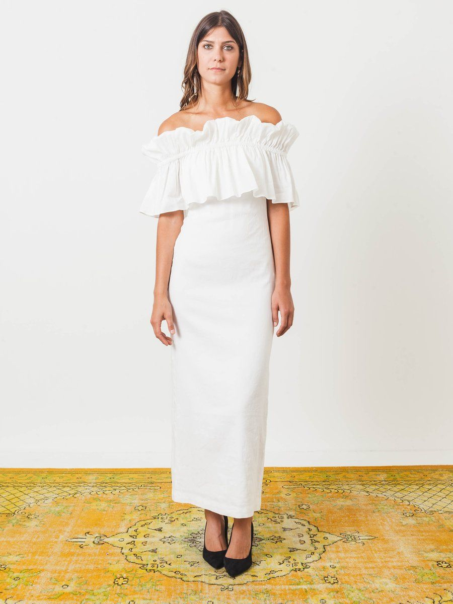 White Mina Dress Dresses, Wedding dress clothes