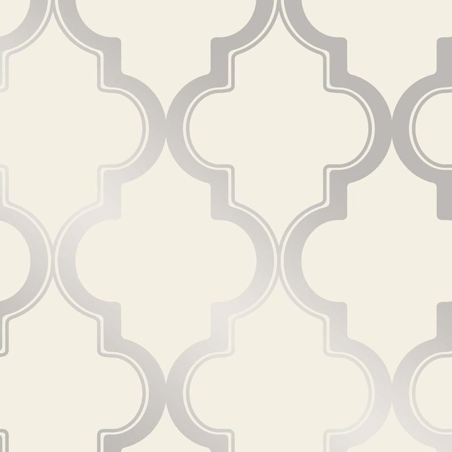 Tempaper 28 Sq Ft Cream And Metallic Silver Vinyl Geometric Self Adhesive Peel And Stick Wallpaper Lowes Com Peel And Stick Wallpaper Removable Wallpaper Silver Wallpaper