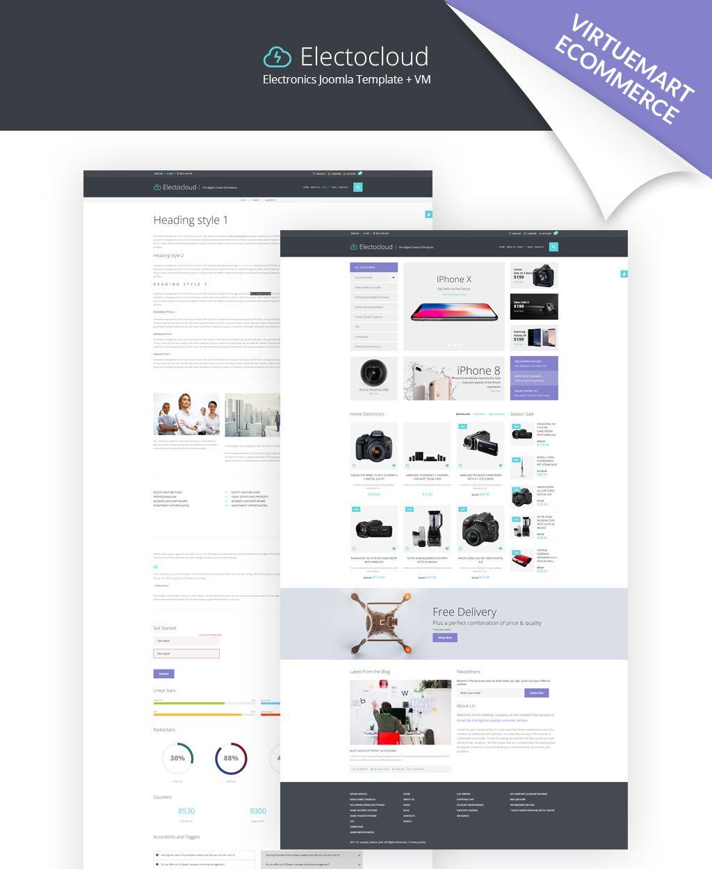 Mobile Store Template Web Design Pinterest Template Font