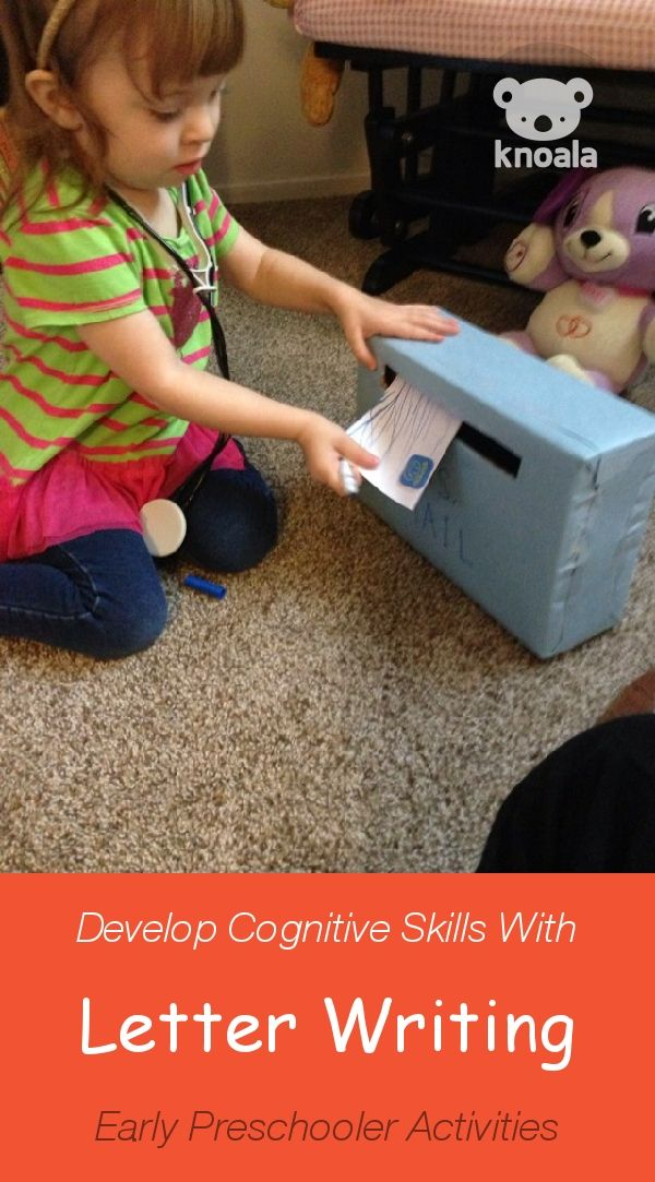 Knoala Early Preschooler Activity: 'Letter Writing' helps little ones develop Cognitive, Language and Emotional skills. #Knoala #KidsActivities *What an great collection of no-prep activities for kids!