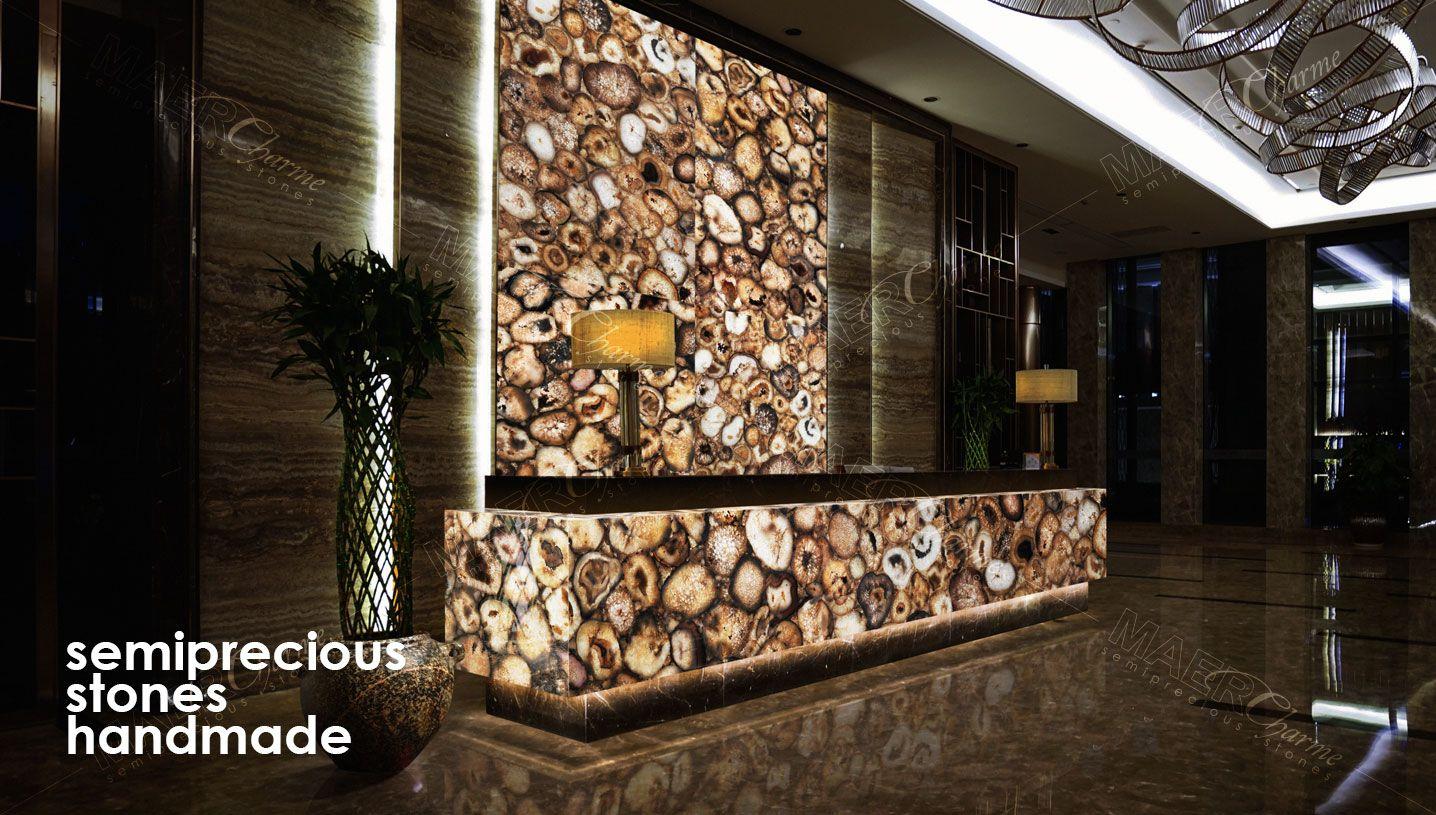 Agate Chocolate Luxury Design Stone Wall Decor