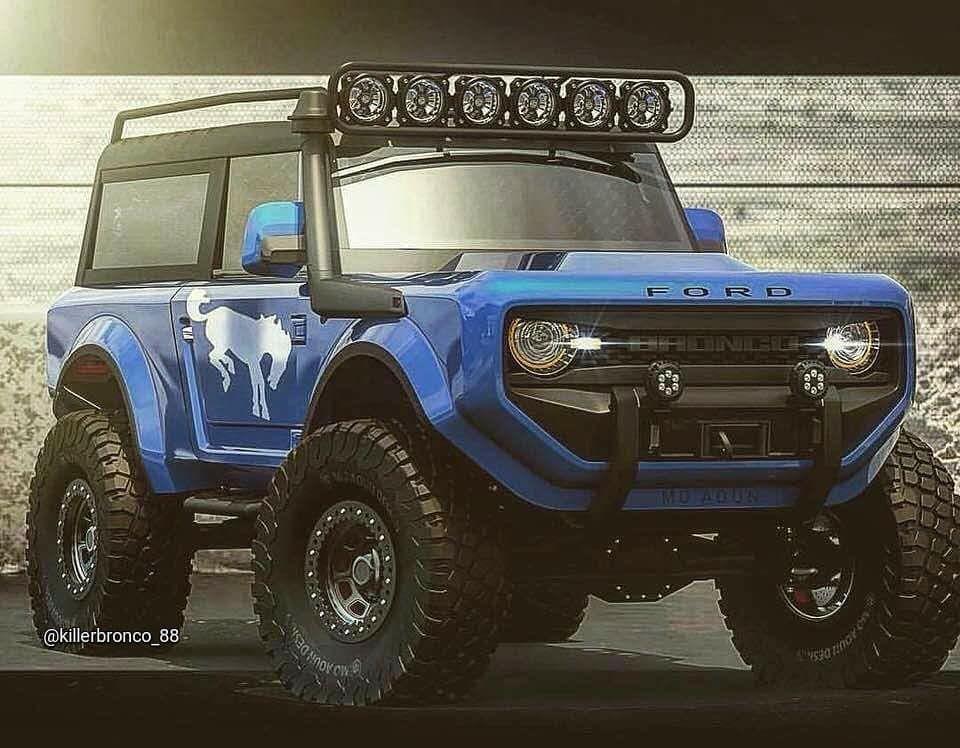2020 Bronco Rendering Camionetas Ford Bronco Camionetas Americanas
