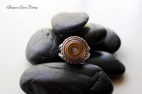 Beautiful Sterling Silver 9mm Bullet Rope Ring by BluegrassBrass, $65.00