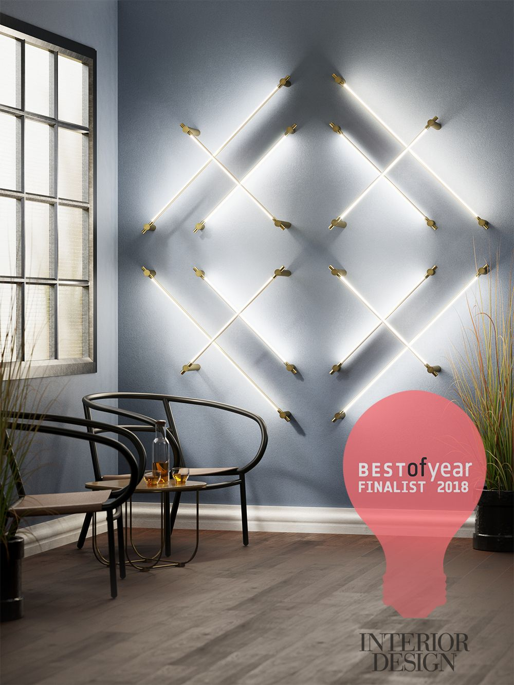 Best Of Year Awards 2018 Finalist Thin Diamond Sconce Award Display Interior Design Magazine Sconces