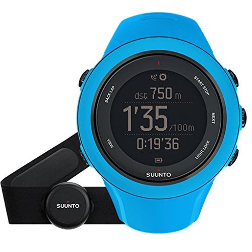 Suunto Ambit3 Sport GPS Multisport Watch Blue w Heart Rate Sensor >>> Click image for more details.(This is an Amazon affiliate link and I receive a commission for the sales)
