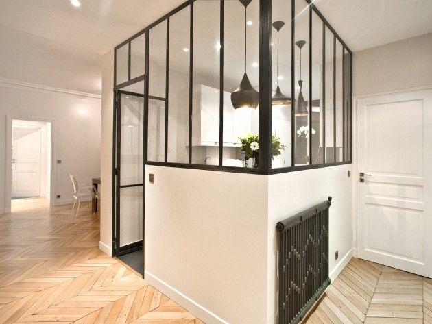 Cuisine séparée du séjour par une verrière sur-mesure | Interior ...