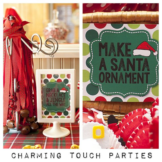 Christmas party signs by Charming Touch by CharmingTouchParties