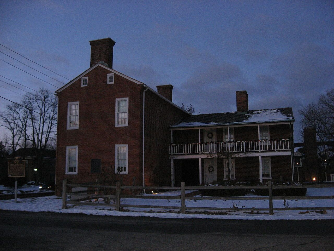 Buttles-Johnson House in Franklin County, Ohio.