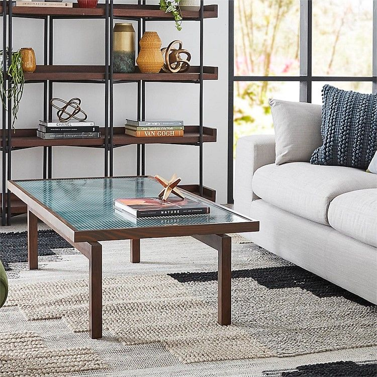 Hans Coffee Table with Fluted Glass | freedom