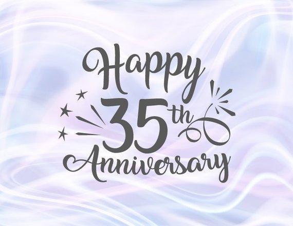 Download Happy 35th Anniversary Svg Jade Coral Wedding Thirty Five Years Lettering Gre Aniversario De Bodas Feliz Primer Aniversario Feliz Aniversario De Bodas