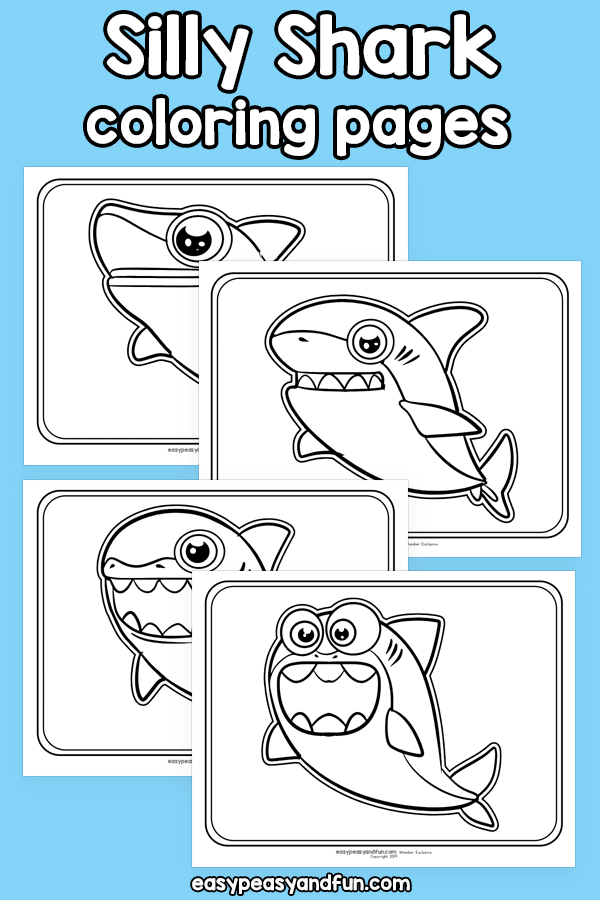 Silly Shark Coloring Pages - Easy Peasy and Fun Membership ...