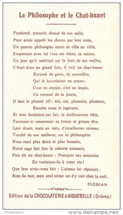 Célèbre Fables de Florian - Le Philosophe et le Chat-Huant | Poesías/des  ZP03
