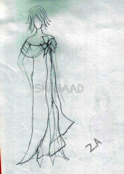 Evening Dress Sketch Shabaad Sketches Pinterest Fashion Beauty