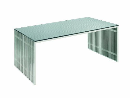 Amici Desk Stainless Steel And Glass By Nuevo Hgdj197 Distressed