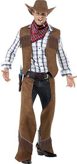 Fransen Cowboy Kostum Braun Mit Weste Beinschutz Halstuch Und Hut