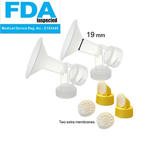 Maymom Pump Parts for Medela Pump in Style Pumps; 19 mm Extra Small Shields