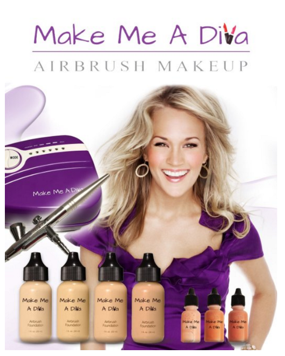 Make Me A Diva Airbrush Makeup Kit Review (With images