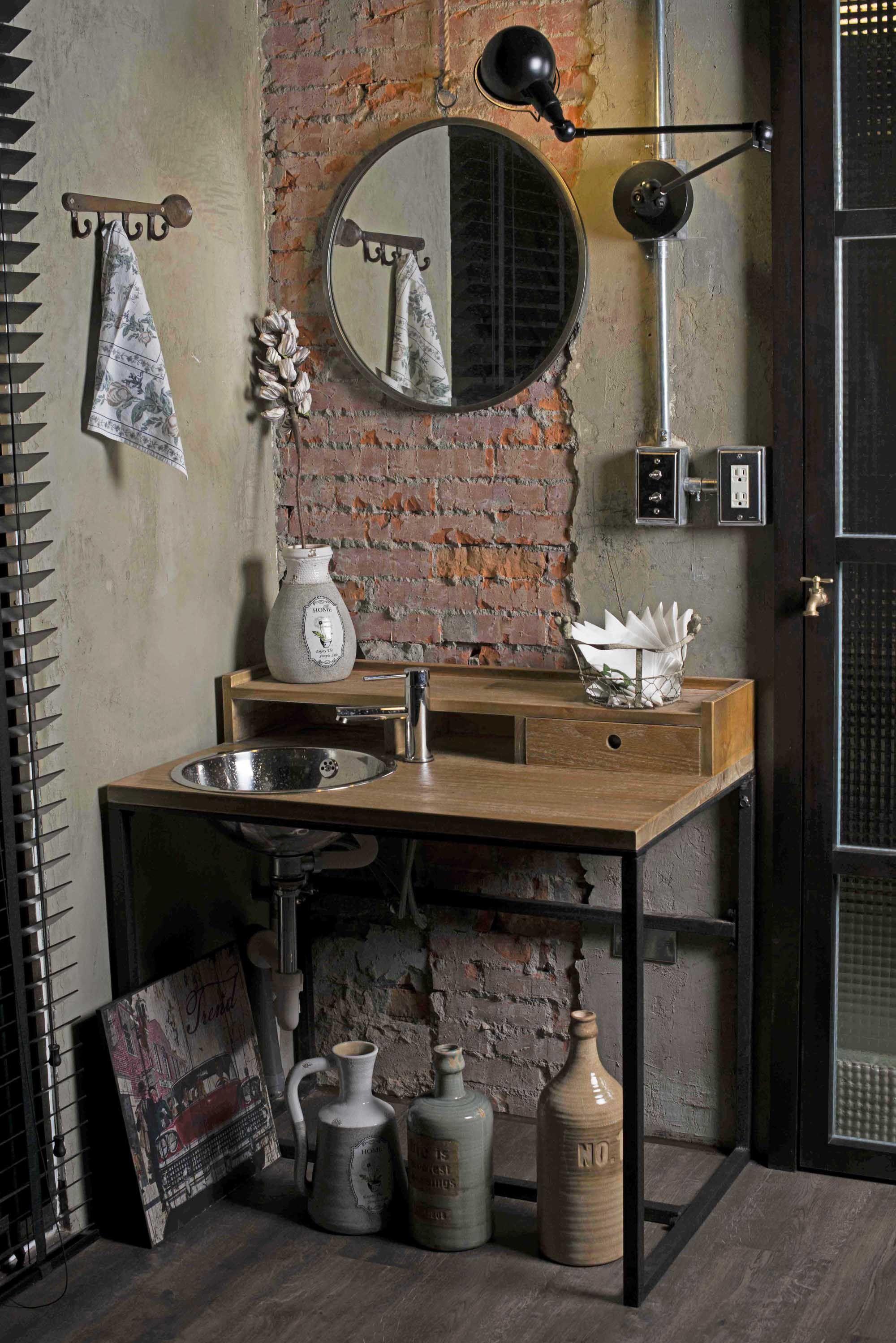 loft industrial style interior design arm hanging