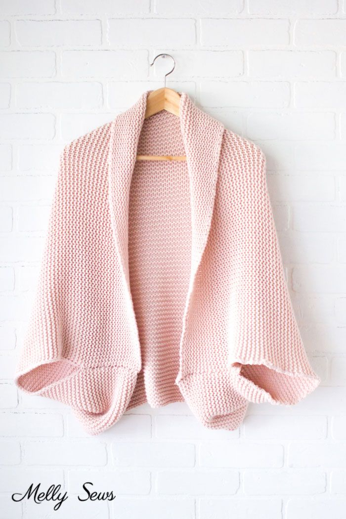 DIY Cocoon Cardigan - Make a Blanket Sweater - Melly Sews #blanketsweater