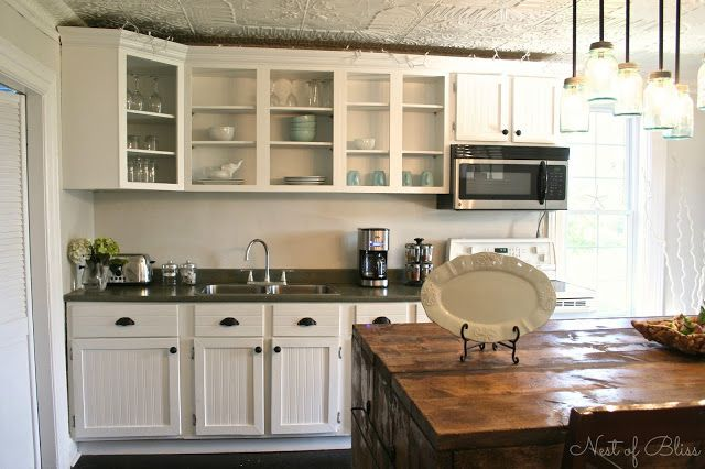 Budget Kitchen Remodel White Country This Post Shows How To Reface Cabinets With Inexpensive Lumber Is A Cost Effective Way