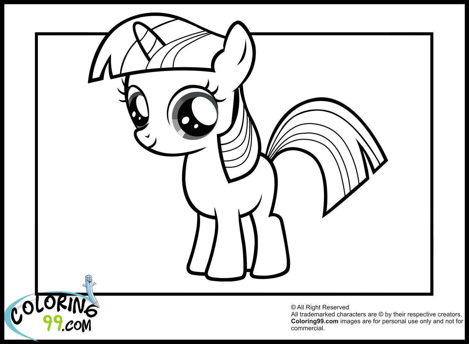 Young my little pony coloring pages - My Little Pony Young Twilight Sparkle Coloring Pages
