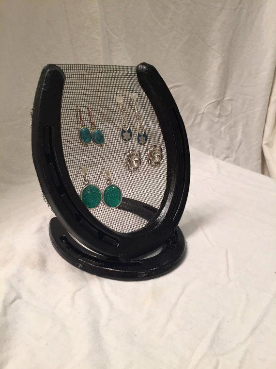 Earring holder, Jewelry Holder, Horse Shoe Decor, Horse ...