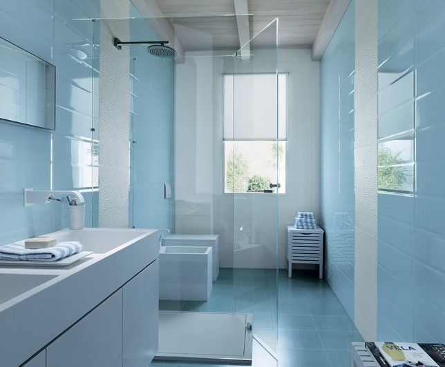 Photo Deco : Salle de bains Bleue | house | Pinterest | Salles de ...