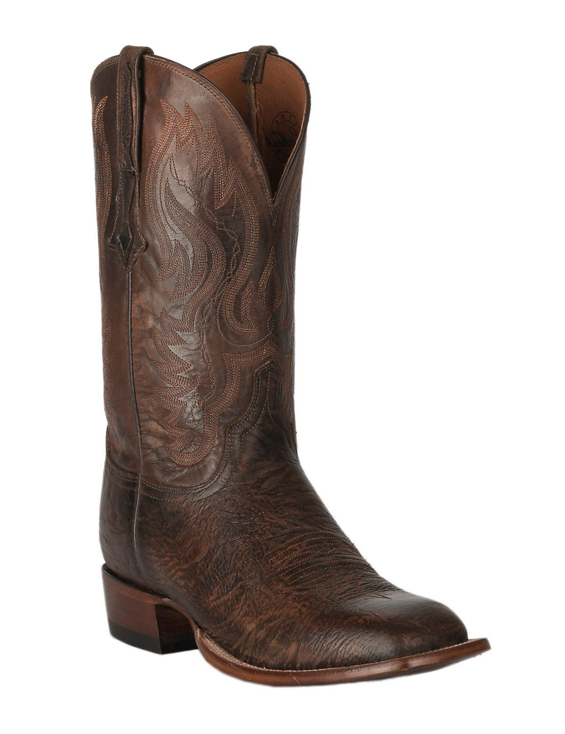 4b55b5a39bf Lucchese 1883 Men's Cognac Bison with Pearwood Upper Square Toe ...