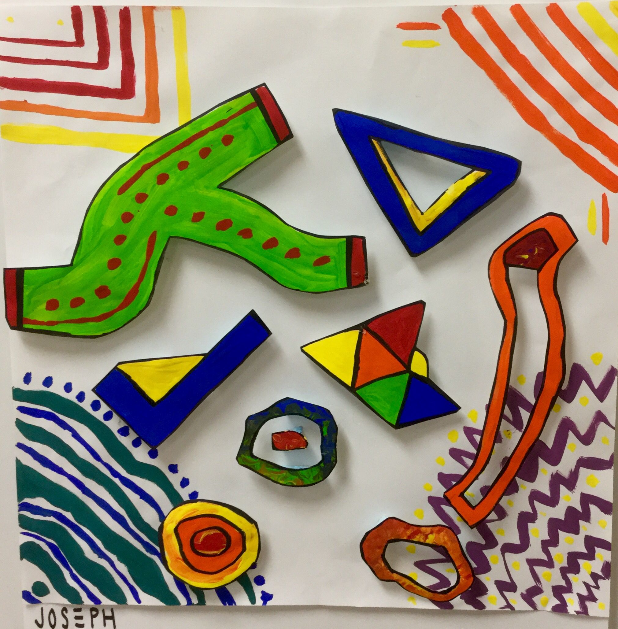 8th Grade Frank Stella Paper Sculptures-http://2soulsisters.blogspot.com/2016/05/stressed-out-stella.html