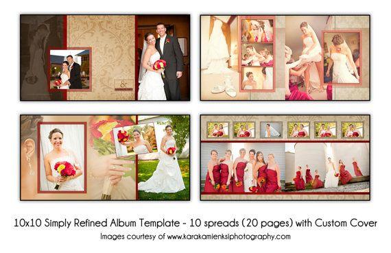 SIMPLY REFINED 10x10 Digital Wedding Album Template 10 spread