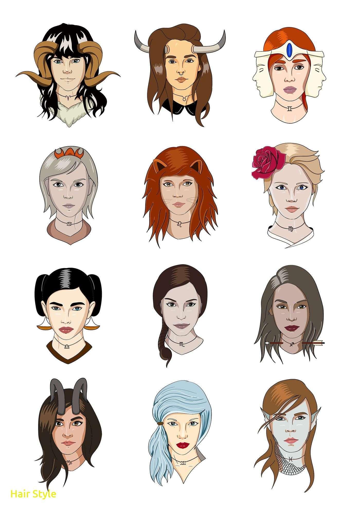 Inspirierende Sternzeichen Haarfarbe With Images Zodiac Signs Zodiac Constellation Art