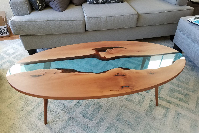 Modern Coffee Table Live Edge Coffee Table With Blue Resin River Coffee Table Coffee Table Living Table Live Edge Coffee Table [ 1000 x 1500 Pixel ]