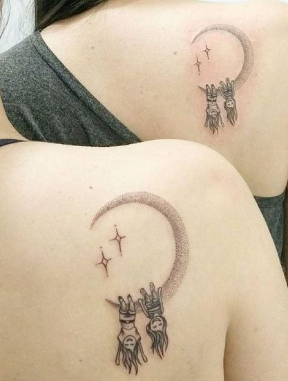 54 Cool Sister Tattoo Ideas To Show Your Bond – #Bond #Cool #Ideas #show #sister…