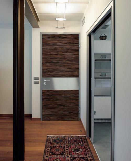 Apartment Entrance Ebony Door Veneered Plywood Finish From Oikos