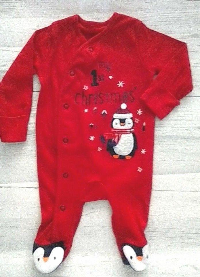 39f94f427 Baby My 1st Christmas Sleepsuit Babygrow First Size Newborn #George ...