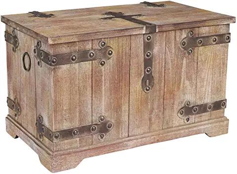 Amazon Com Large Treasure Chest For Storage Household Essentials Storage Trunks Storage Trunk