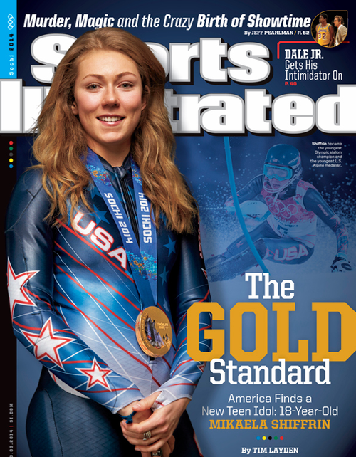mikaela shiffrin  Cheer Mikaela on: Twitter Facebook  U.S. Ski Team member and reigning slalom World Champion Mikaela Shiffrin is one of the foremost figures in the world of skiing. Her steep ascent to the most elite level of women's alpine racing began in 2010 at the qualifying age of 15.