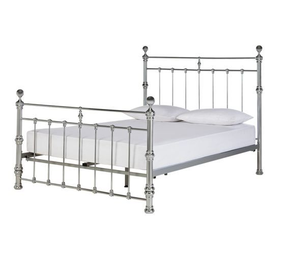 Buy Heart of House Conan Double Bed Frame - Chrome at Argos.co.uk ...