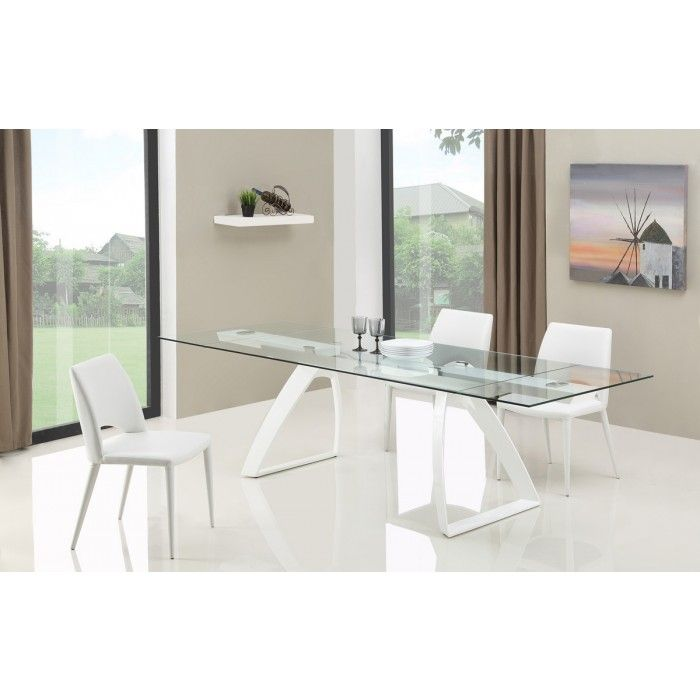 Modrest Harvey Modern Extendable Glass Dining Table  Modern And Glass Brilliant Extendable Glass Dining Room Table Review