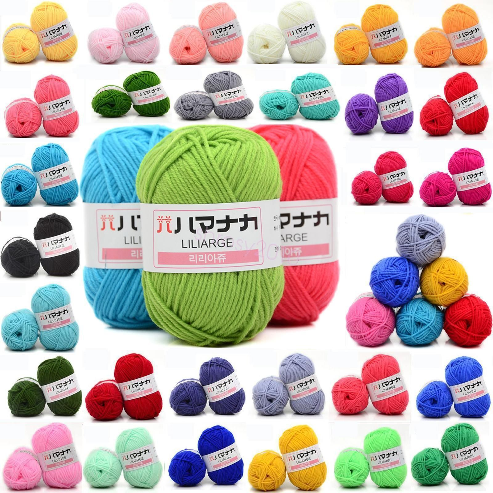 CHIC 42 colors Crochet Soft Bamboo Cotton Knitting Yarn Baby Natural Wool Yarn Y