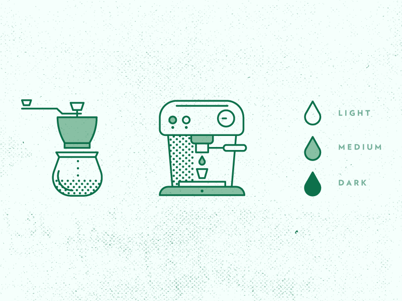 simple coffee iconography