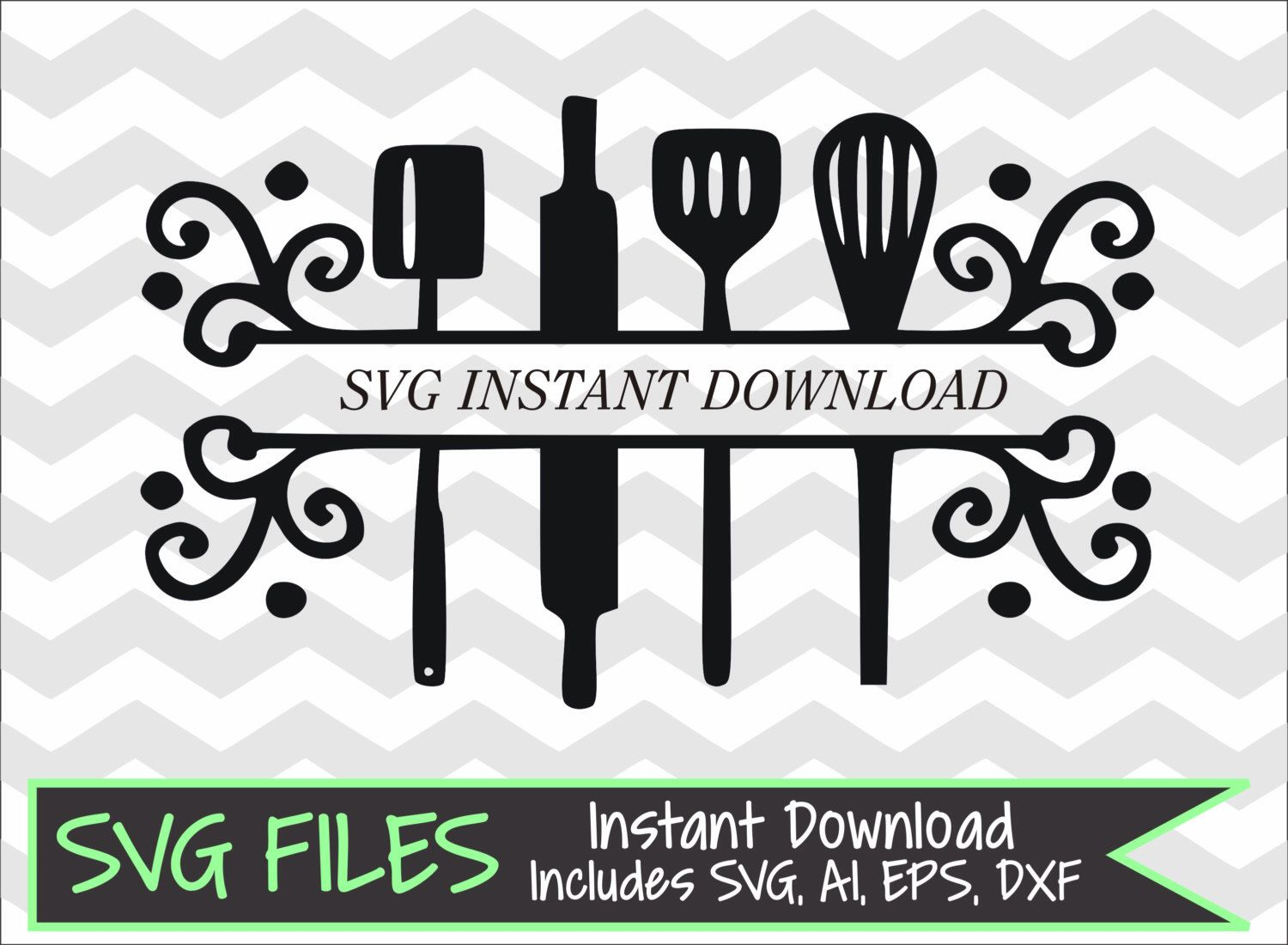 kitchen utensils split silhouette. Contemporary Split Split Kitchen Utensils SVG DXF Eps Ai Cutting File For Silhouette Cameo Or  Cricut Instant Download By SVGFiles On Etsy  For X