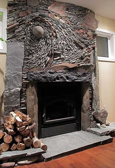Decorative Stone Wall 24 Awesome, Awesome Stone Fireplaces