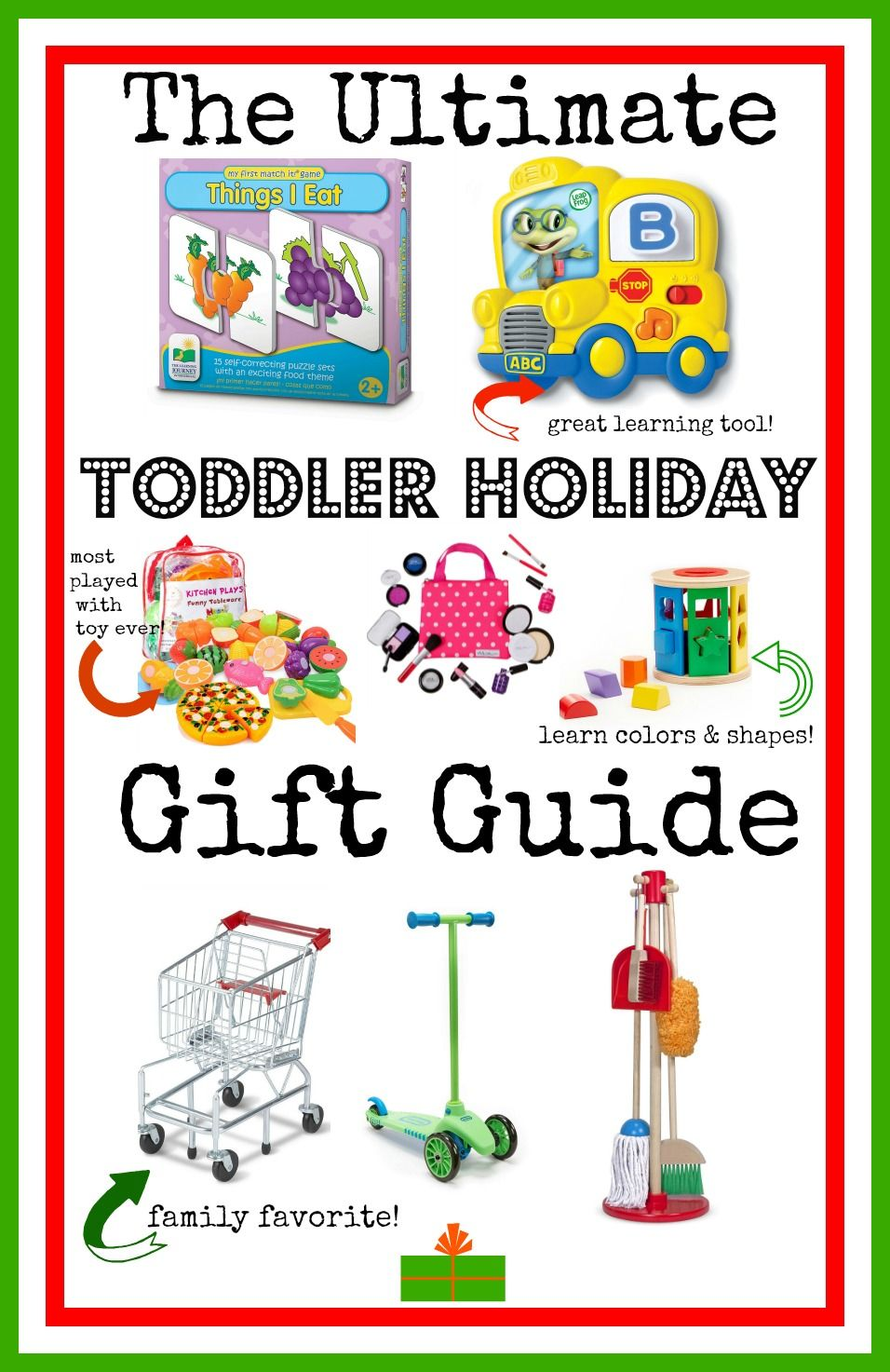 eee88663211 This Toddler Holiday Gift Guide will help find the perfect gift for the 2  or 3 year old in your life! Both boys and girls will love these fun toys!