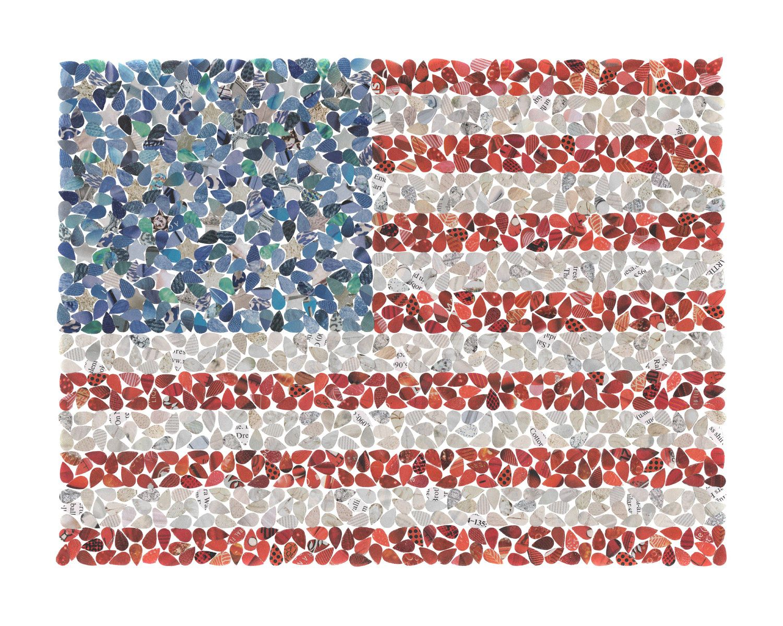 darlingdail american flag paper collage 8x10 print home ideas